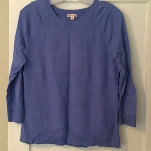 Periwinkle seed stitch sweater